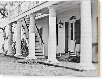 The Front Porch Wood Print by Scott Pellegrin