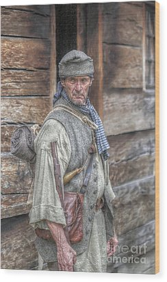 The Frontiersman Wood Print by Randy Steele
