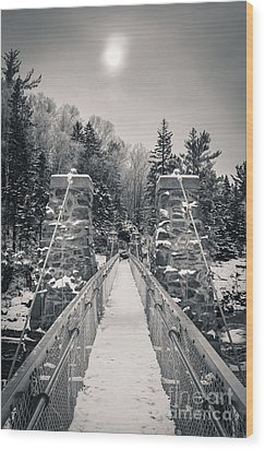 Wood Print featuring the photograph The Frost Across by Mark David Zahn