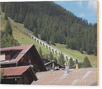 The Funicular In Murren Wood Print
