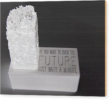 Wood Print featuring the sculpture The Future by Tony Murray