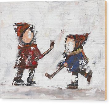 The Game Wood Print by David Dossett