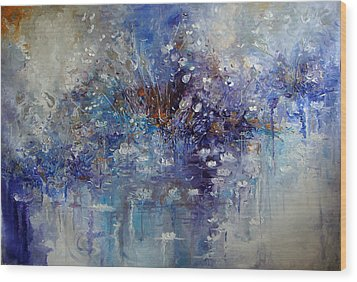 The Garden Monet Didn't See Wood Print by Hermes Delicio