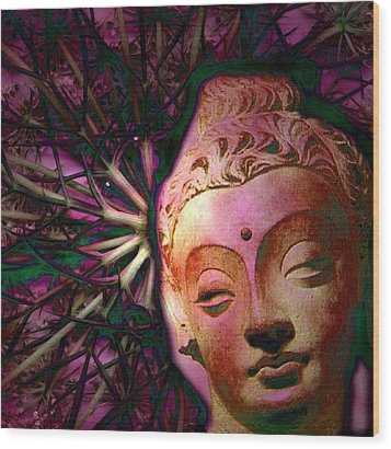 The Garden Of Buddha Wood Print by Martine Jacobs