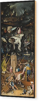 The Garden Of Earthly Delights. Right Panel Wood Print by Hieronymus Bosch