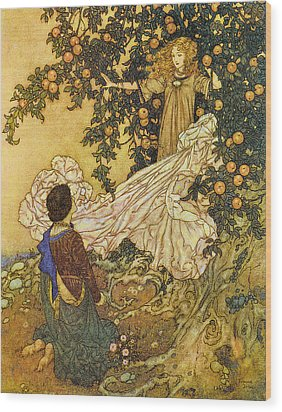 The Garden Of Paradise IIi Wood Print by Edmund Dulac