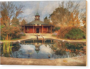 The Garden Pavilion Wood Print by Darren Fisher