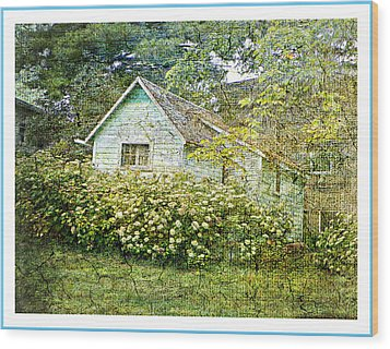 The Garden Shed Wood Print by Dianne  Lacourciere