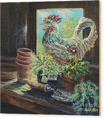 The Garden Shed Wood Print by Gail Allen