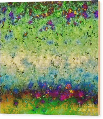 Wood Print featuring the digital art The Garden Wall by Darla Wood