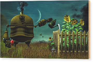 The Gardener Wood Print by Bob Orsillo
