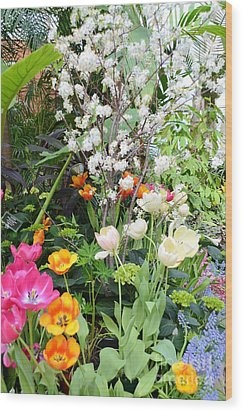 The Gardens Wood Print by Kathleen Struckle