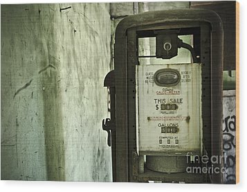 The Gas Pump  Wood Print by Jessica Berlin