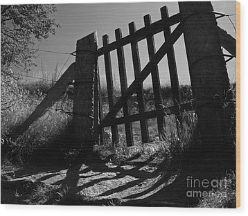 Wood Print featuring the photograph The Gate by Inge Riis McDonald
