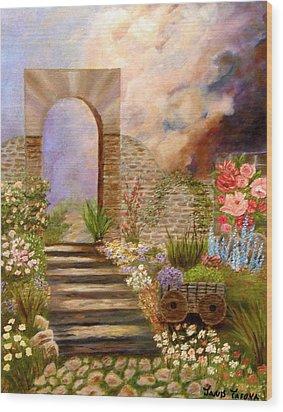 The Gate Wood Print by Janis  Tafoya