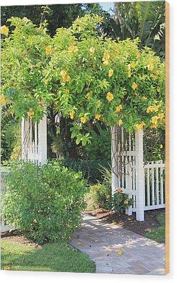 The Gate Wood Print by Rosalie Scanlon