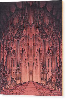The Gates Of Barad Dur Wood Print