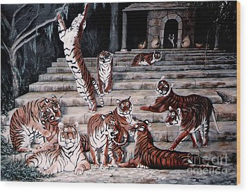 The Gathering Wood Print by DiDi Higginbotham
