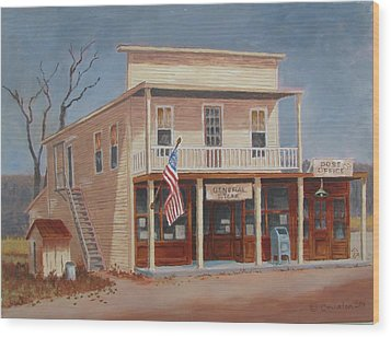 Wood Print featuring the painting The Gathering Place by Tony Caviston