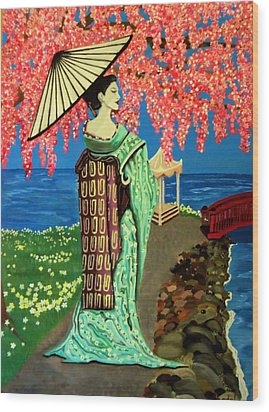 The Geisha Wood Print