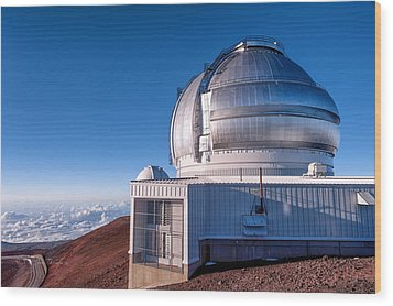 Wood Print featuring the photograph The Gemini Observatory by Jim Thompson