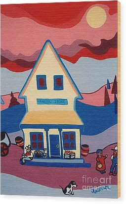 The General Store Wood Print by Joyce Gebauer