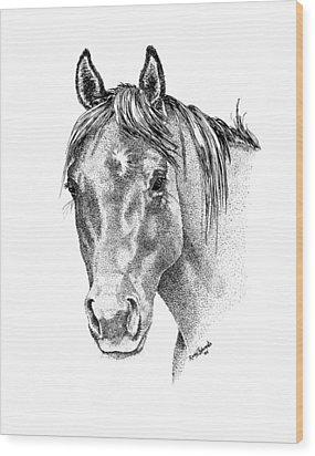 The Gentle Eye Horse Head Study Wood Print by Renee Forth-Fukumoto