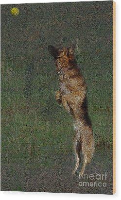 The German Shepherd Great Dog Wood Print by Manjot Singh Sachdeva