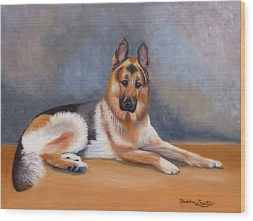 The German Sheppard Wood Print