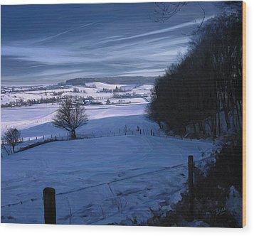 The Geul Valley Near Epen Wood Print by Nop Briex