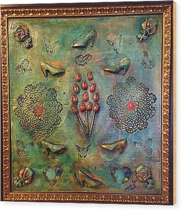 The Gift By Alfredo Garcia Art Wood Print by Alfredo Garcia