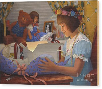 The Gift Wood Print by Charles Fennen