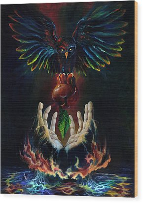 The Gift Wood Print by Kd Neeley