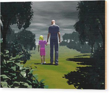 The Gift Of Being 'daddy' Wood Print