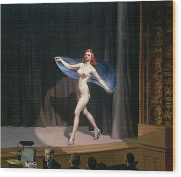 The Girlie Show Wood Print by Edward Hopper