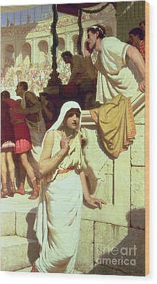 The Gladiators Wife Wood Print by Edmund Blair Leighton