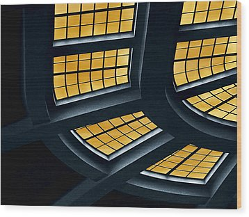 The Glass Ceiling Wood Print by Wendy J St Christopher