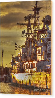 The Glory Days -  Uss Sullivans Wood Print