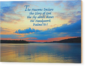 The Glory Of God Wood Print by Lorna Rogers Photography