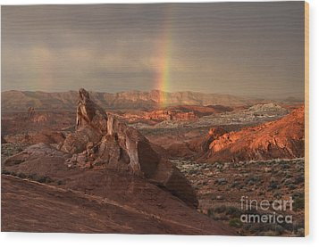 The Glory Of Sandstone Wood Print by Bob Christopher