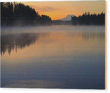 The Glow At Dawn Wood Print