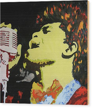 The God Father Of Soul James Brown Wood Print by Ronald Young