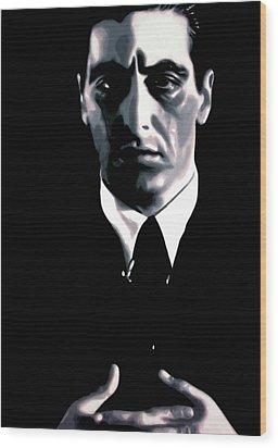 The Godfather Wood Print by Luis Ludzska