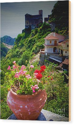 The Godfather Villages Of Sicily Wood Print by David Smith