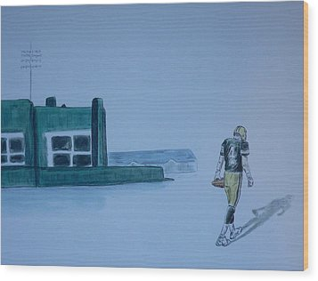 The Gold Has Left Green Bay Wood Print by Dan Wagner
