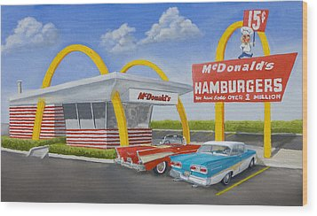 The Golden Age Of The Golden Arches Wood Print by Jerry McElroy