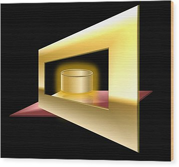 The Golden Can Wood Print by Cyril Maza