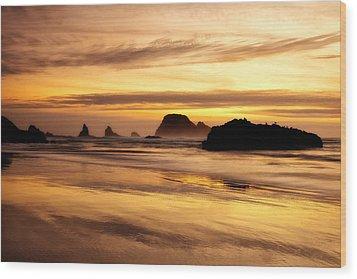 The Golden Coast Wood Print by Darren  White