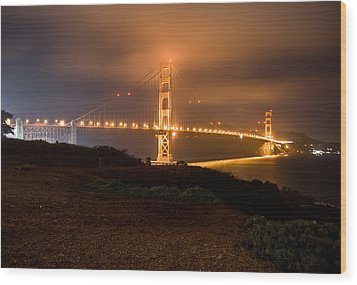 Wood Print featuring the photograph The Golden Gate by Brent Durken