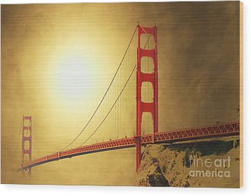 The Golden Gate Wood Print by Wingsdomain Art and Photography